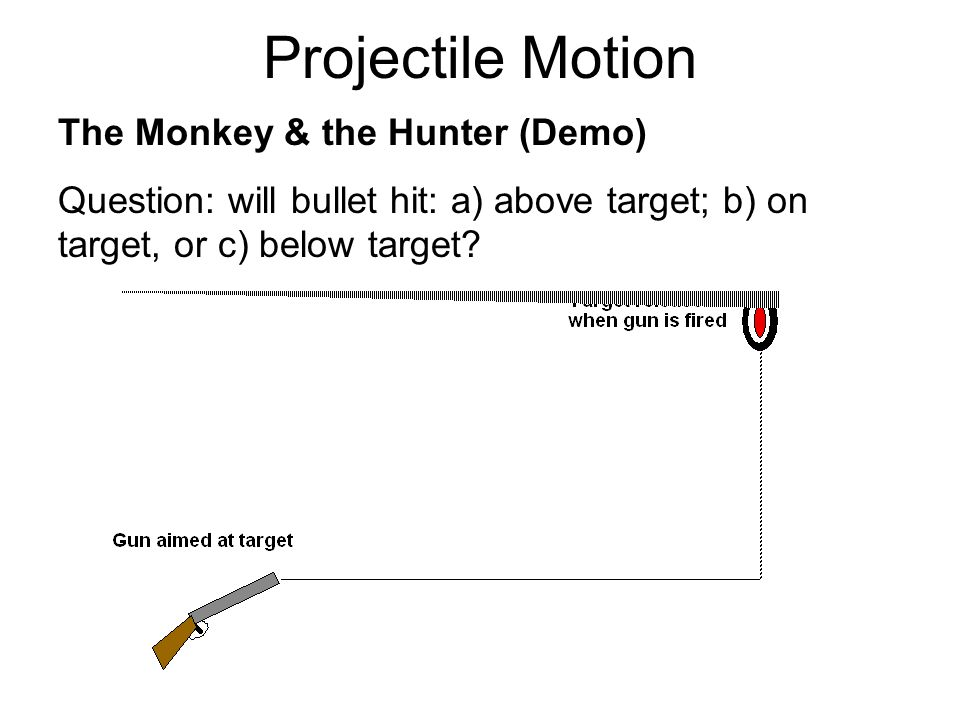 Projectile Motion The Monkey & the Hunter (Demo)