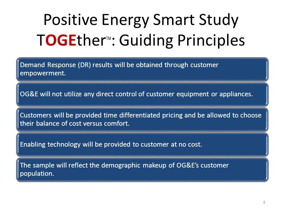 Positive Energy Smart Study TOGEtherTM: Guiding Principles