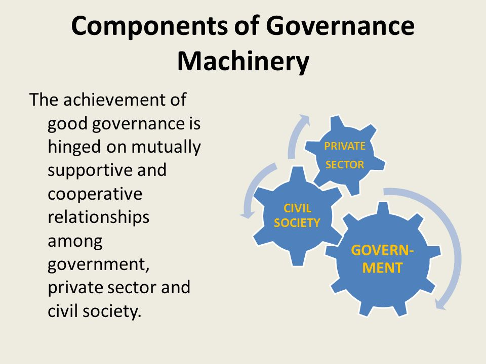 Components of Governance Machinery