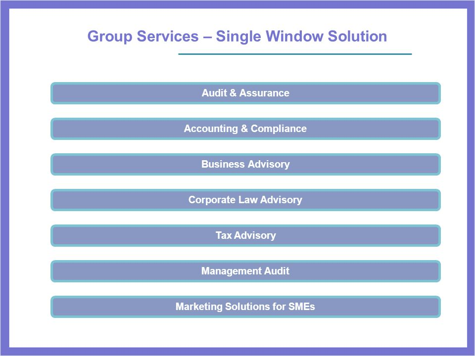 Group Services – Single Window Solution