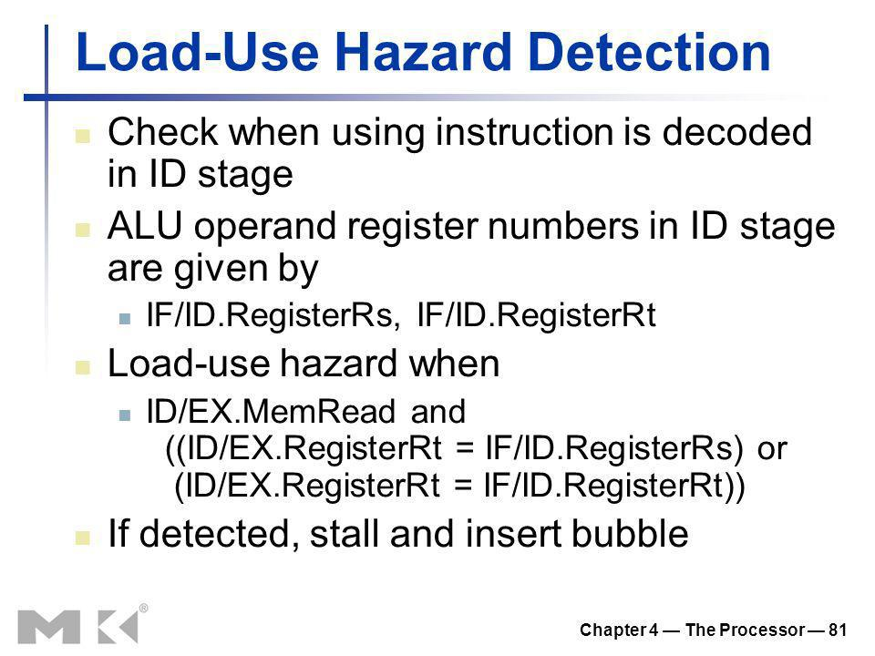 Load-Use Hazard Detection