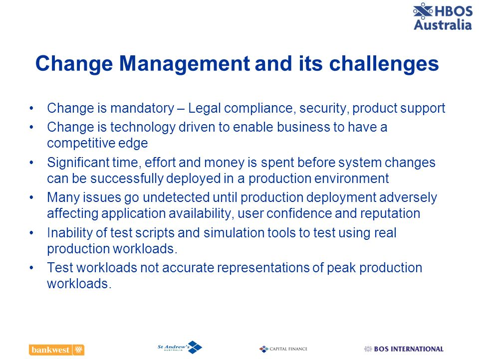 Change Management and its challenges