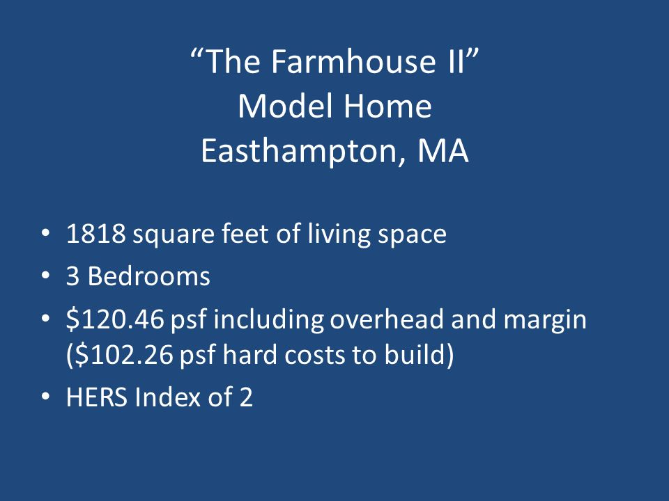 The Farmhouse II Model Home Easthampton, MA
