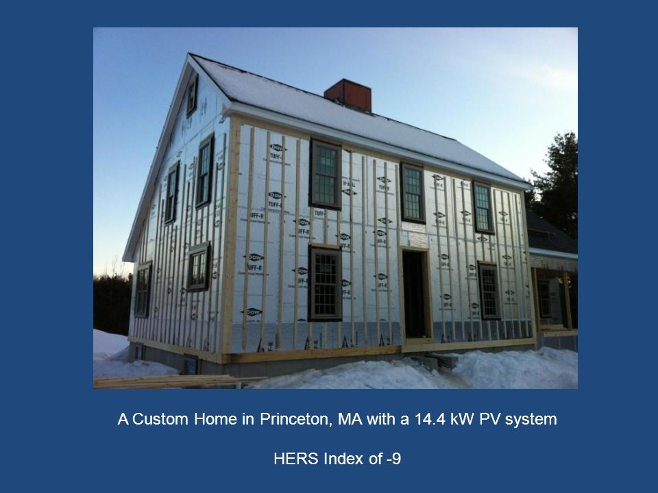 A Custom Home in Princeton, MA with a 14.4 kW PV system