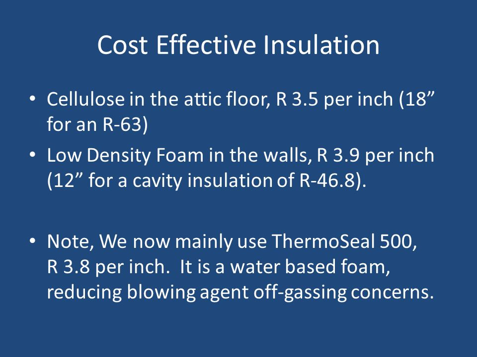Cost Effective Insulation