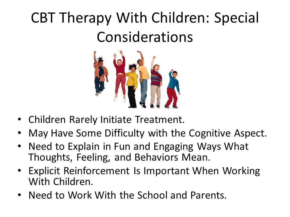 CBT Therapy With Children: Special Considerations