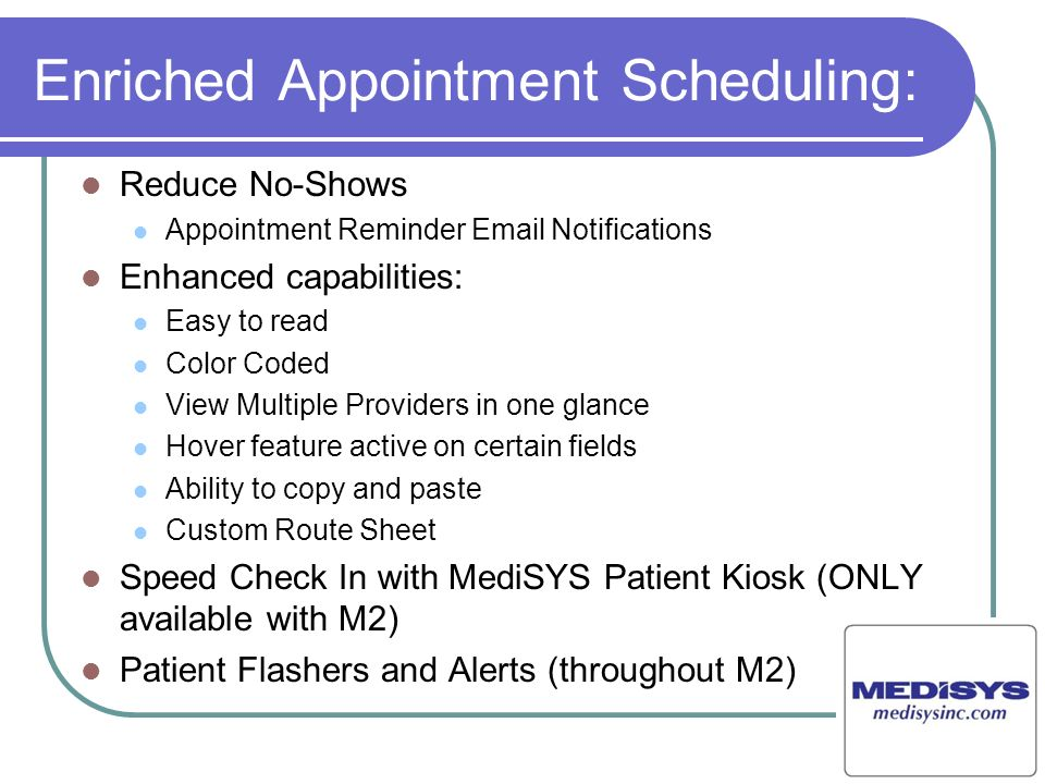 Enriched Appointment Scheduling: