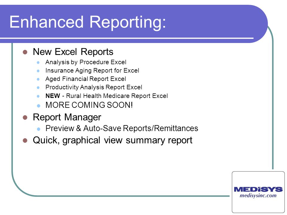 Enhanced Reporting: New Excel Reports Report Manager