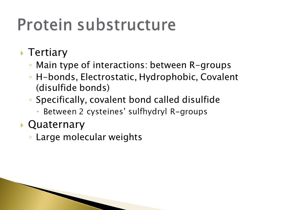 Protein substructure Tertiary Quaternary
