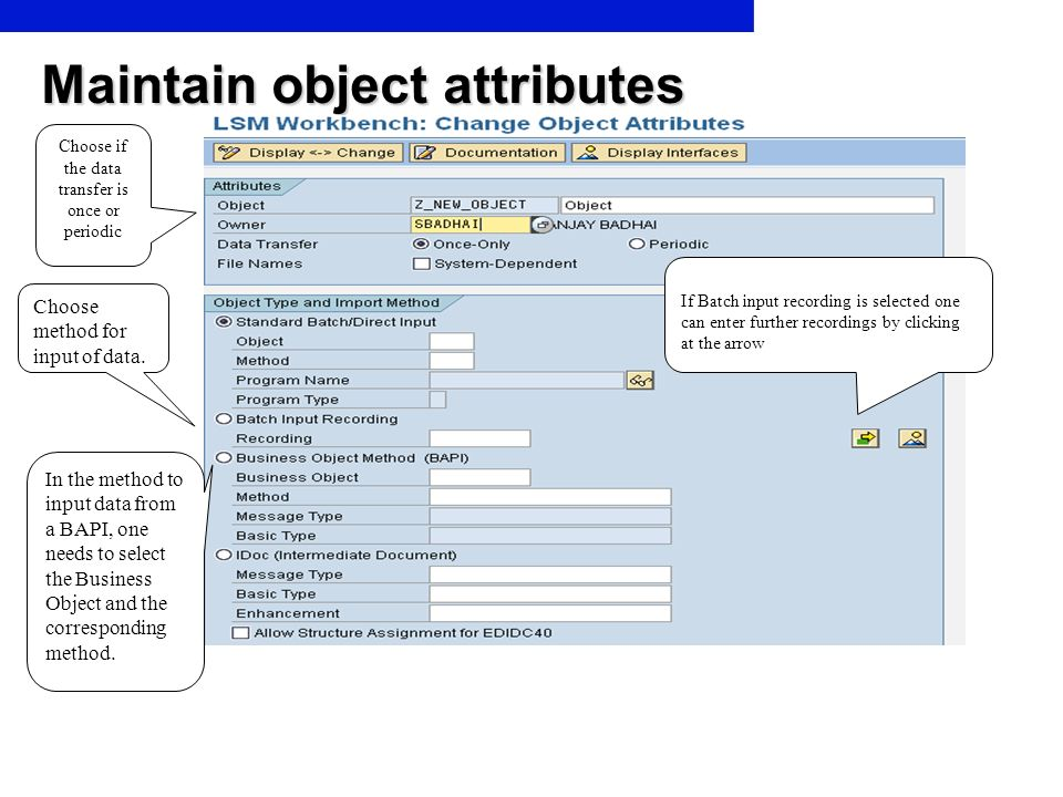 Maintain object attributes