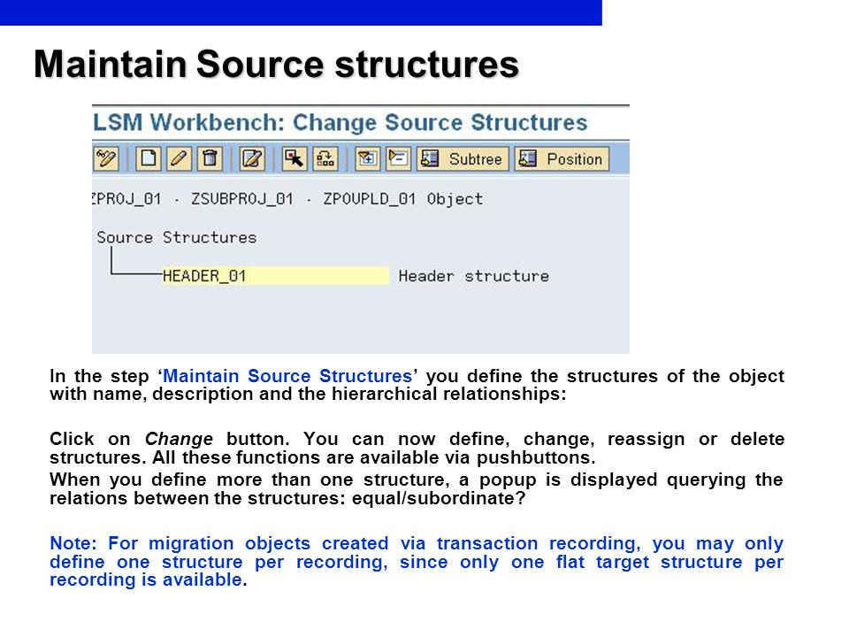 Maintain Source structures