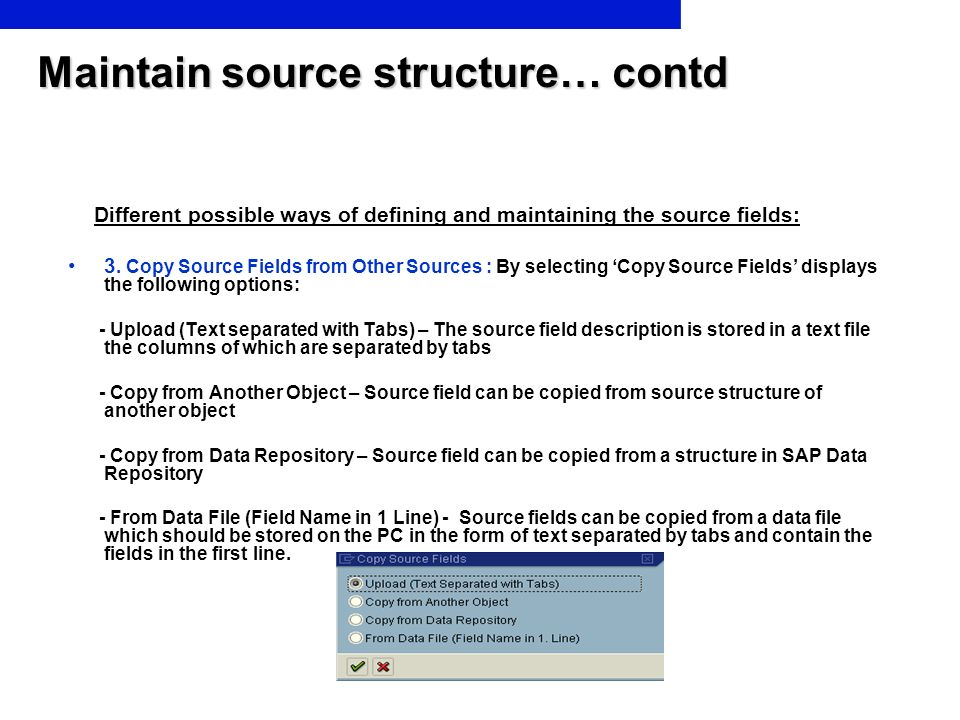 Maintain source structure… contd