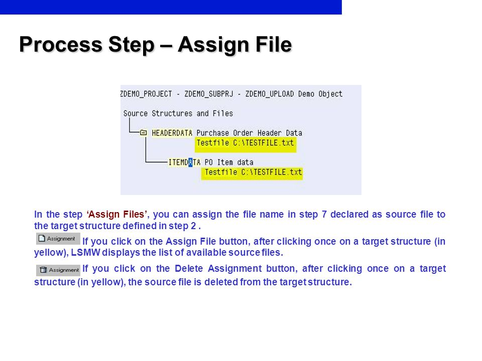 Process Step – Assign File