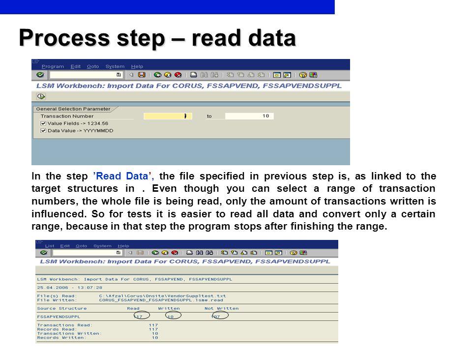 Process step – read data