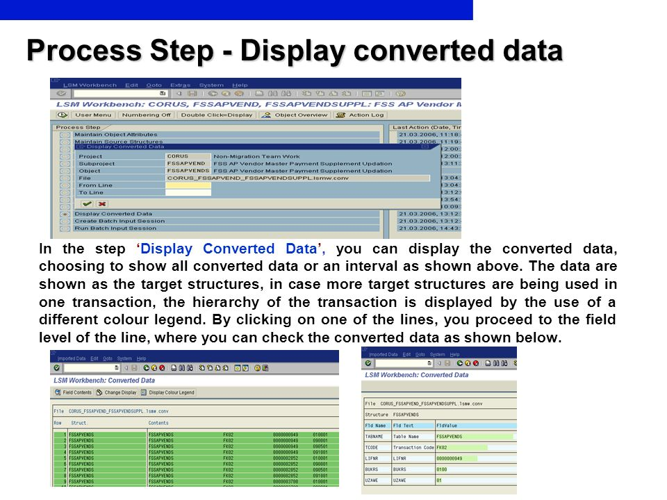 Process Step - Display converted data