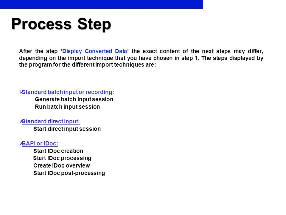 Process Step