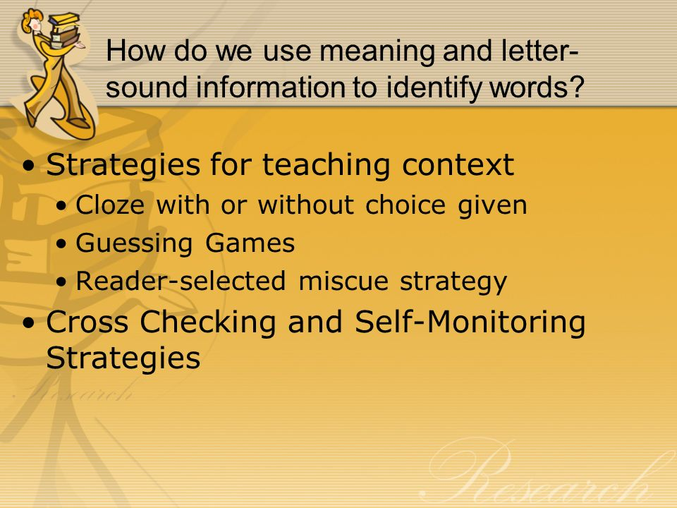 How do we use meaning and letter-sound information to identify words