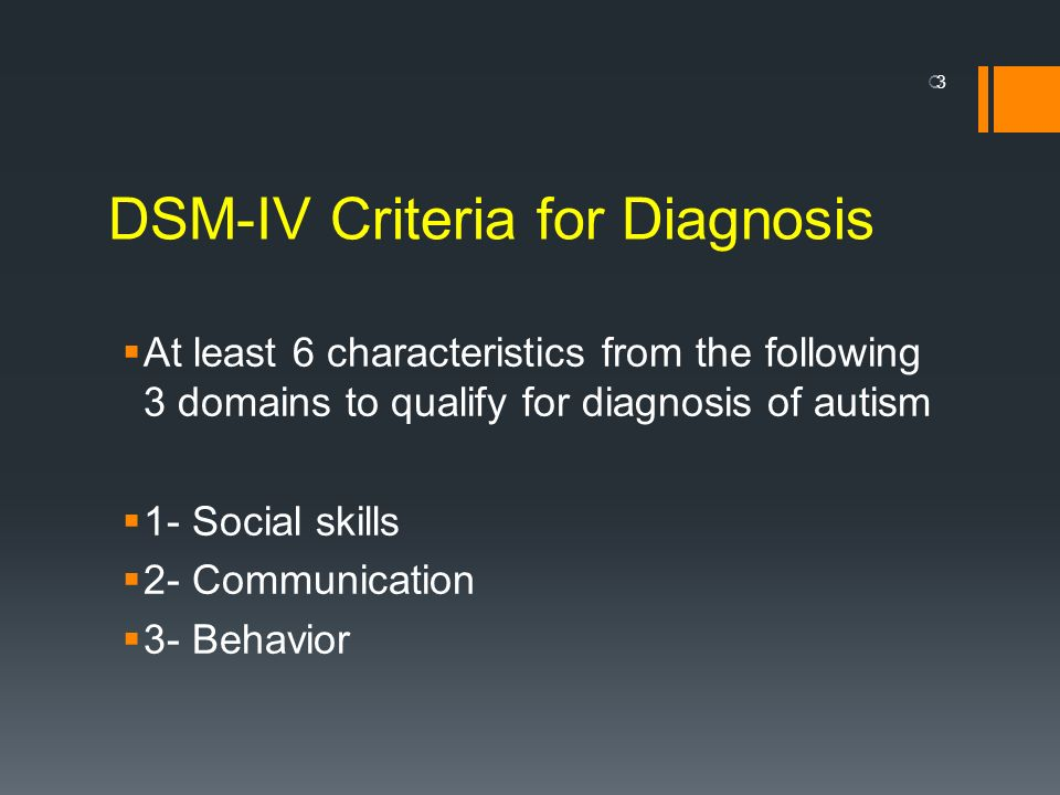 DSM-IV Criteria for Diagnosis