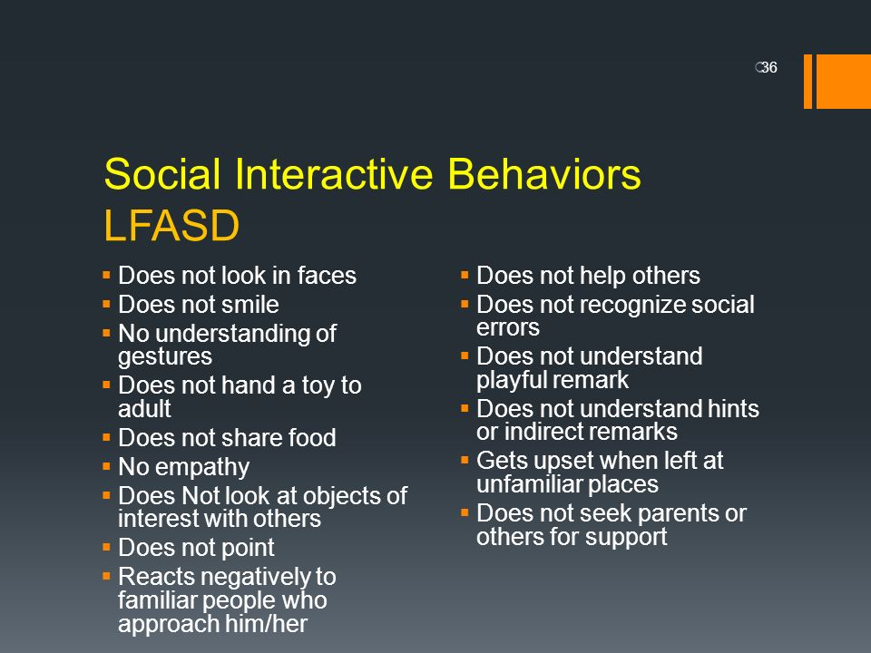 Social Interactive Behaviors LFASD