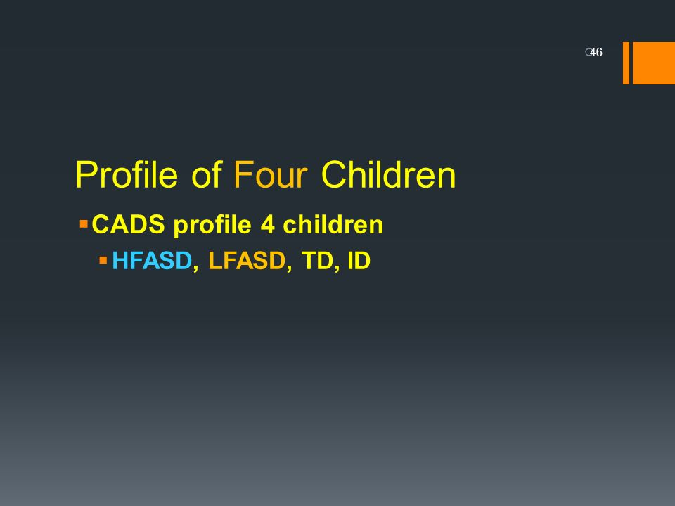 Profile of Four Children