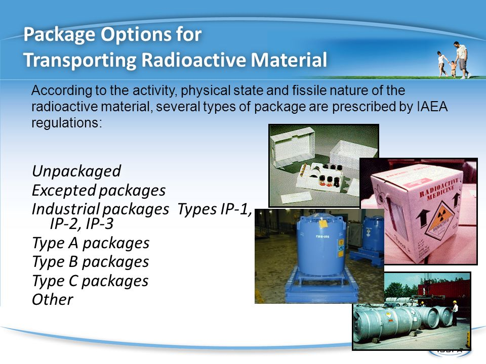 Package Options for Transporting Radioactive Material