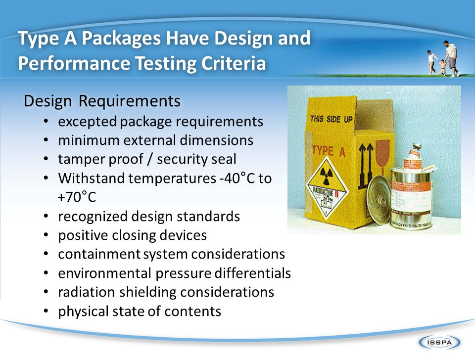 Type A Packages Have Design and Performance Testing Criteria