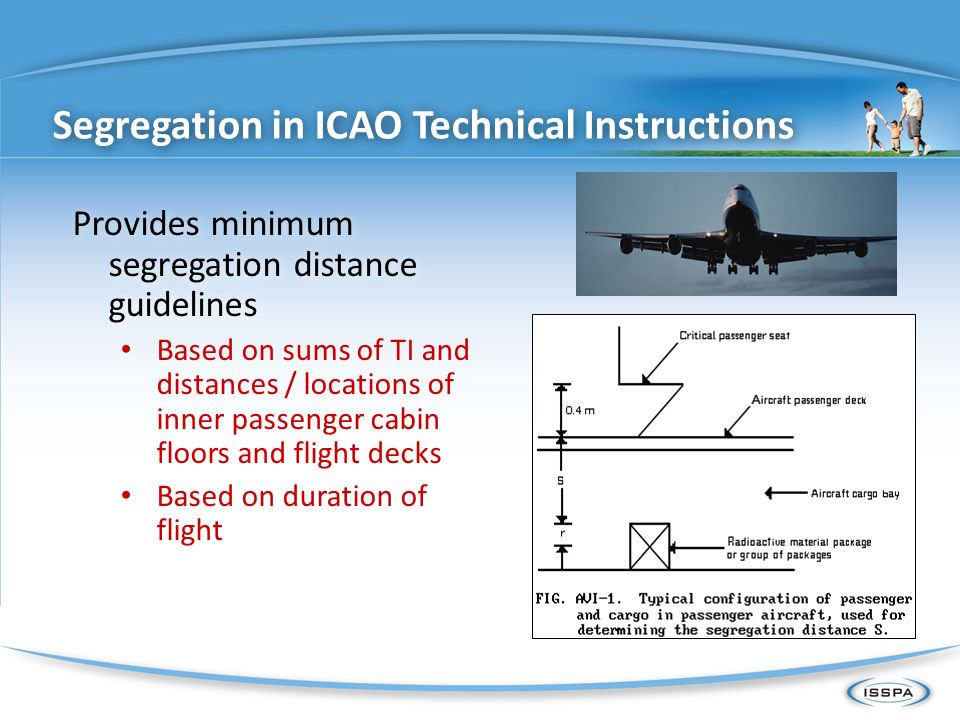 Segregation in ICAO Technical Instructions