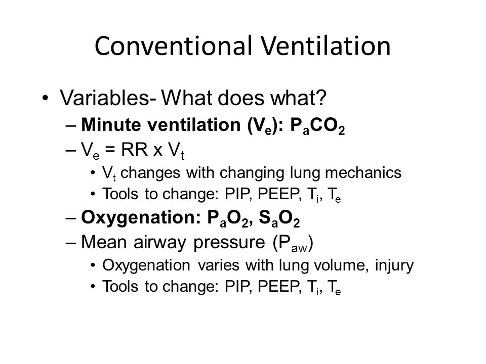 Conventional Ventilation