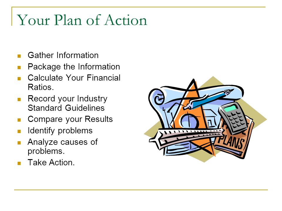 Your Plan of Action Gather Information Package the Information