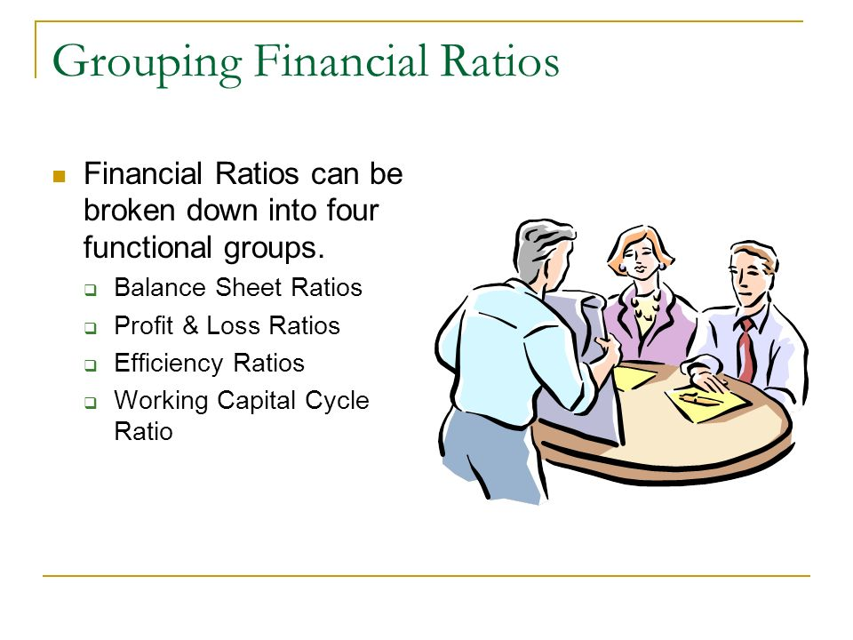 Grouping Financial Ratios