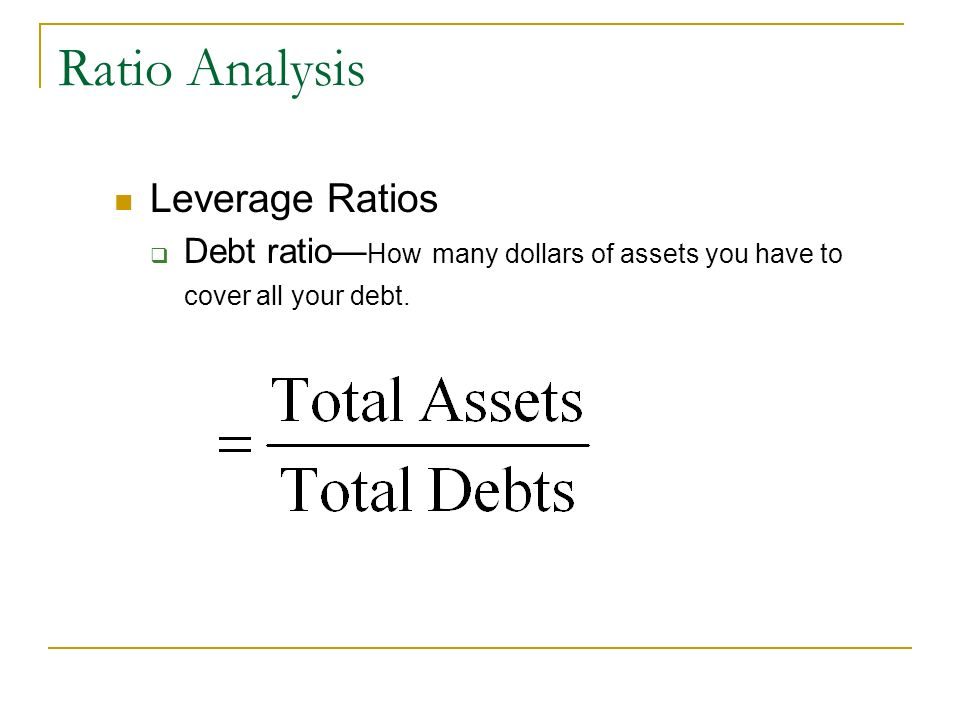 Ratio Analysis Leverage Ratios