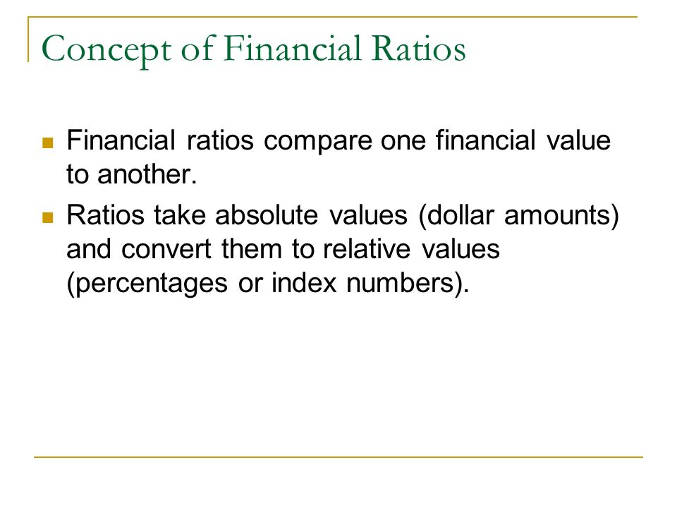 Concept of Financial Ratios