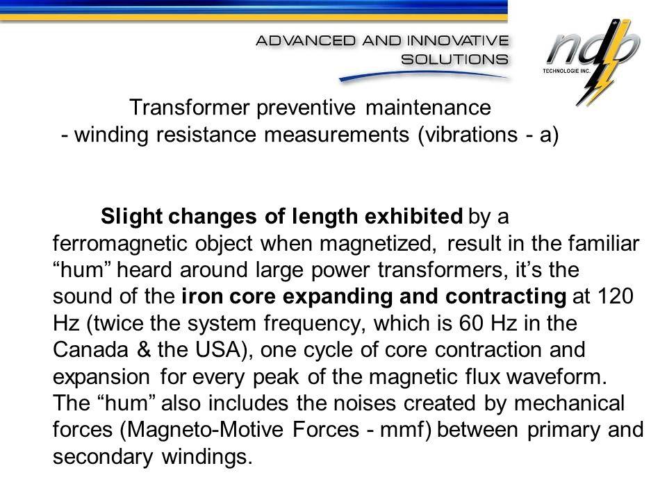 Transformer preventive maintenance - winding resistance measurements (vibrations - a)