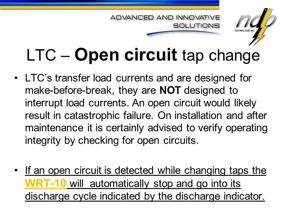 LTC – Open circuit tap change