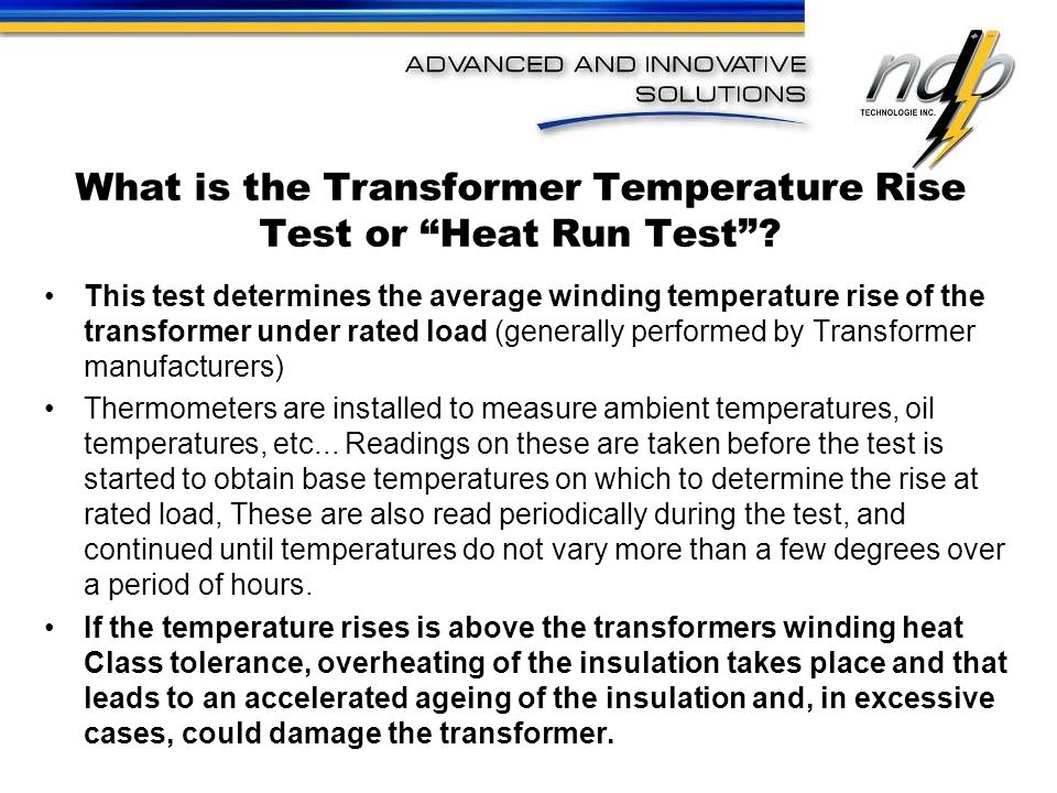 What is the Transformer Temperature Rise Test or Heat Run Test