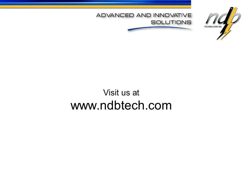 Visit us at www.ndbtech.com