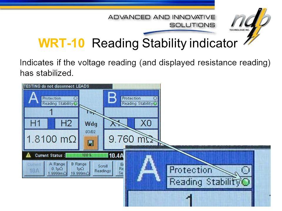 WRT-10 Reading Stability indicator