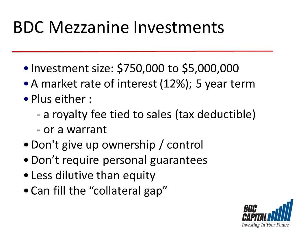 BDC Mezzanine Investments