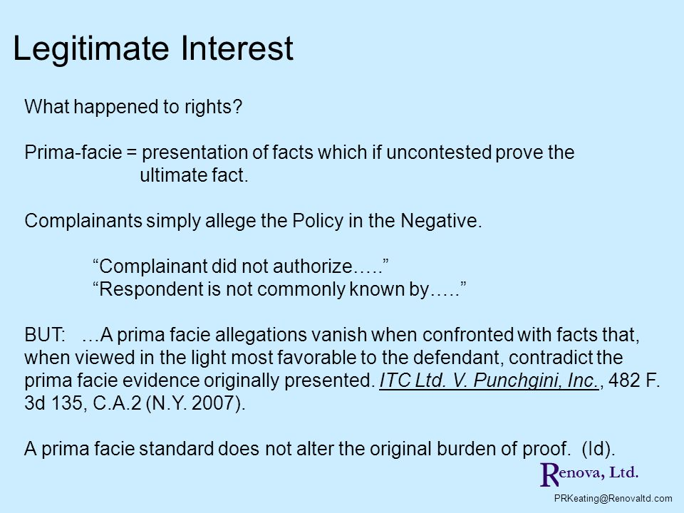 Legitimate Interest R What happened to rights