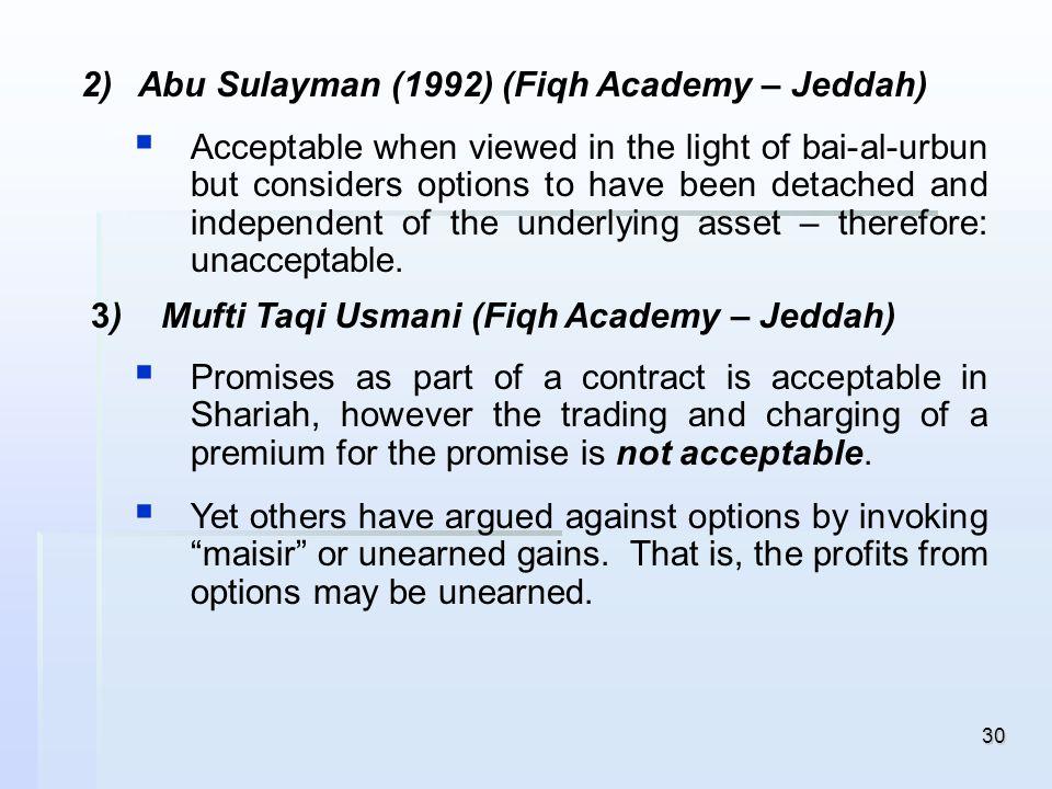 Abu Sulayman (1992) (Fiqh Academy – Jeddah)