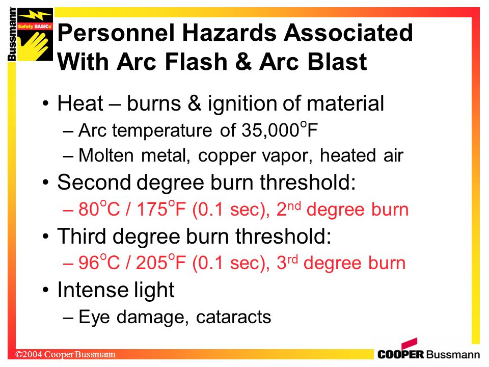 Personnel Hazards Associated With Arc Flash & Arc Blast