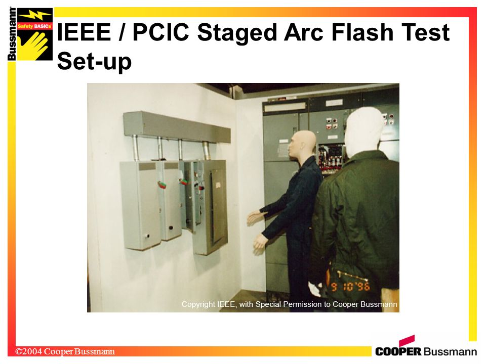 IEEE / PCIC Staged Arc Flash Test Set-up