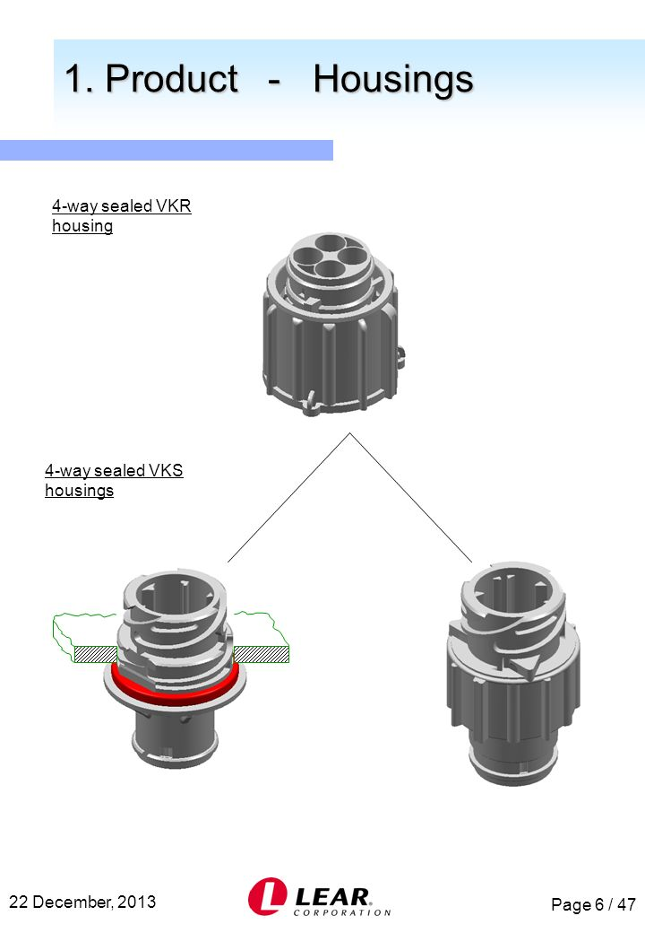 1. Product - Housings 4-way sealed VKR housing
