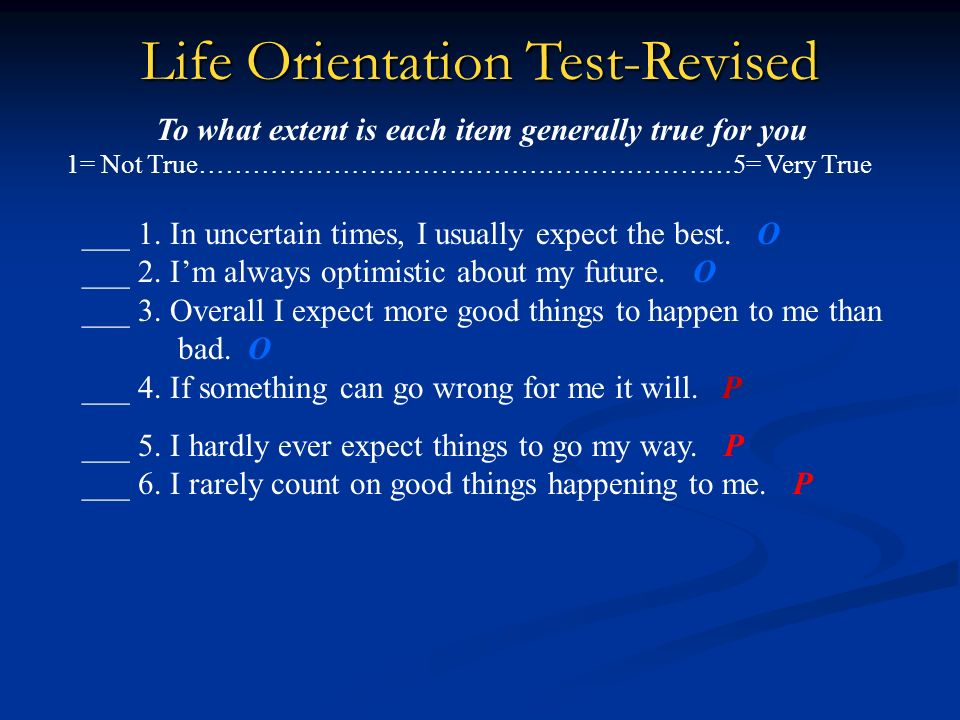 Life Orientation Test-Revised
