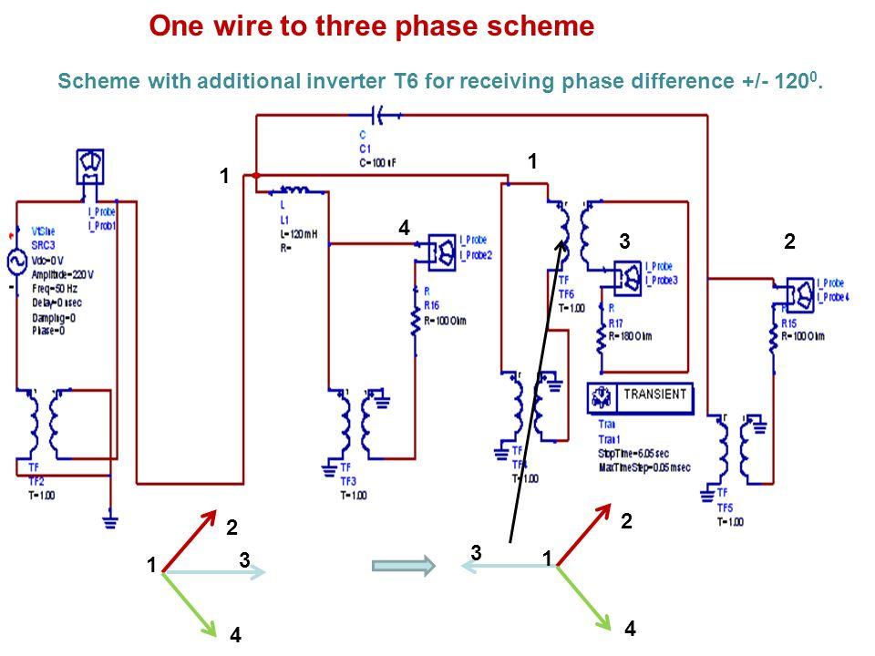 One wire to three phase scheme