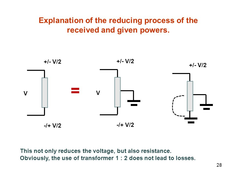 Explanation of the reducing process of the received and given powers.