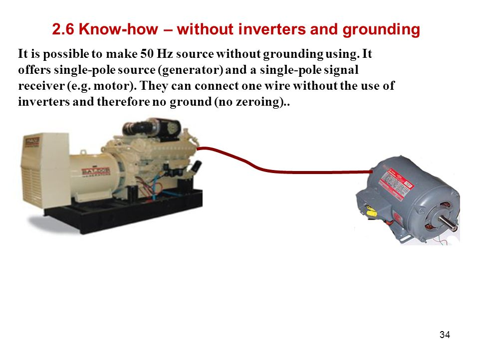 2.6 Know-how – without inverters and grounding
