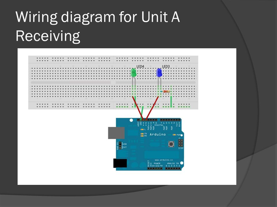 Wiring diagram for Unit A Receiving
