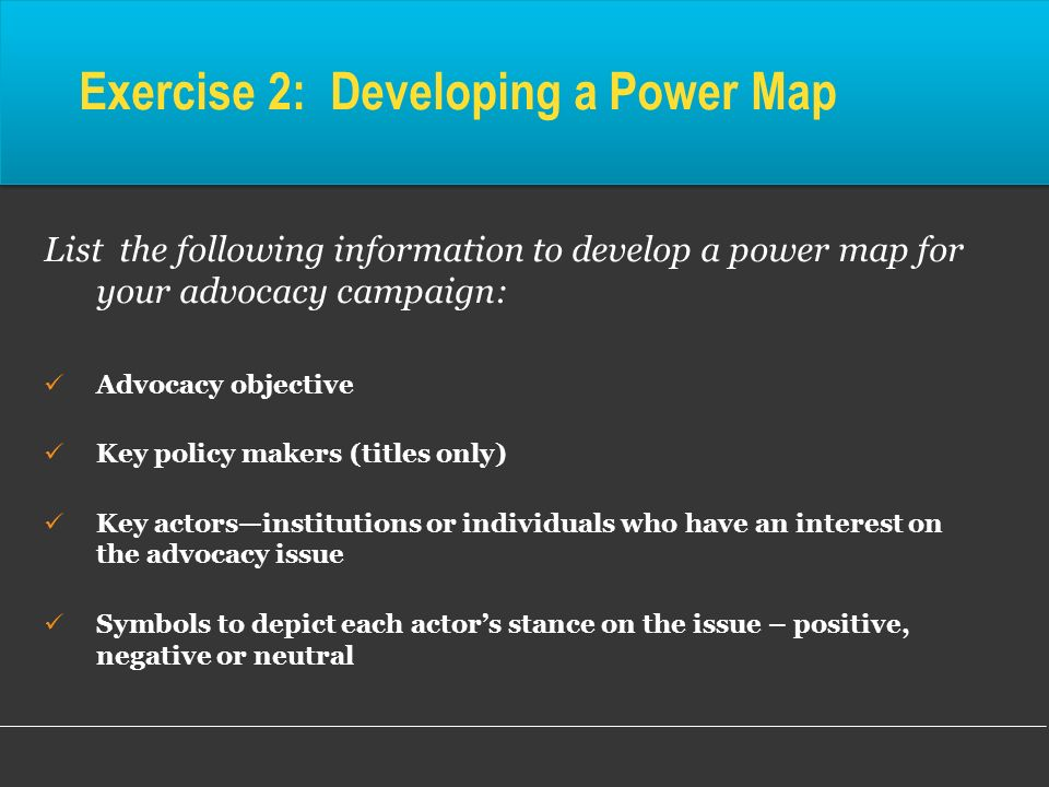 Exercise 2: Developing a Power Map