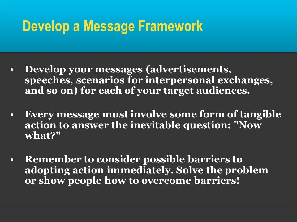 Develop a Message Framework